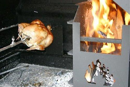 Home Fires Braai Draaiend spit met motor