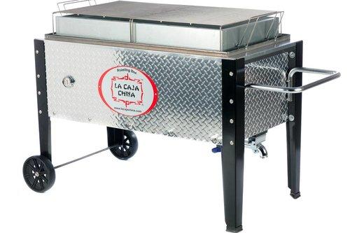 """La Caja China SP-300DP roasting box """"Zilver"""""""