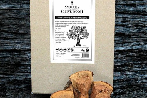 Smokey Olive Wood Sinaasappellhout Chunks Nº5