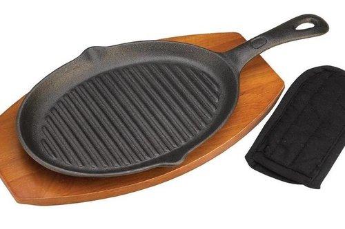 Grill Pro Gietijzeren Fajita grill pan