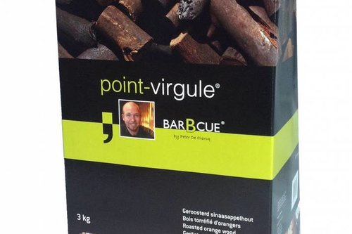 Point - Virgule geroosterd sinaasappelhout chunks