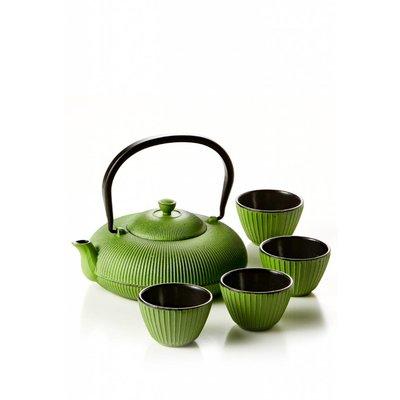 Matcha Tee-Set (Teekanne + 4 Tee-Tassen)
