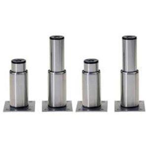 Diamond Set aus 4 Edelstahlfüssen für Kühlaufsätze GN 1/4, verstellbar