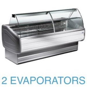 Diamond Lada chłodnicza - zaokrąglone szkło | +4°+6° |  2500x1060x1270