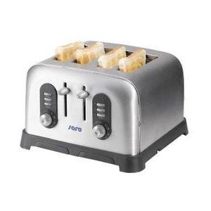 Saro Toaster 4 Schnallen auf geröstetem Funktion Timer | 329x318x200 mm | 230 V