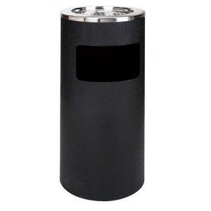 Saro Prullenbak Horeca Zwart - met Asbak - 72cm hoog