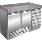 Saro Pizza-Station - 2 Türen, 6 Schubladen | + 2 ° bis + 8 ° C | Granit