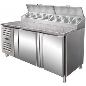 Saro Stół przygotowawczy wentylowany - 2 drzwiowy |+2° do +8°C | 5x GN 1/3