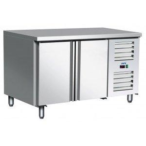 Saro Koelwerkbank RVS | 3 deurs | +2° / +10 °C | Zelfsluitende Deuren