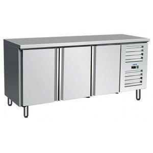 Saro Stół chłodniczy - 3 drzwiowy | +2° do +10°C | samozamykające się drzwi