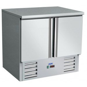Saro Koelwerkbank RVS | 2 deurs | +2° / +8 °C