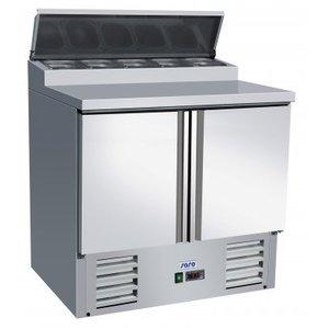 Saro Stół przygotowawczy - 2 drzwiowy |-2° do +10°C | 5x GN 1/6