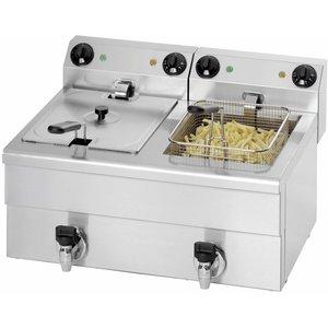 Saro XXL AANBIEDING! Friteuse + Tapkraan - 2 x 10 liter