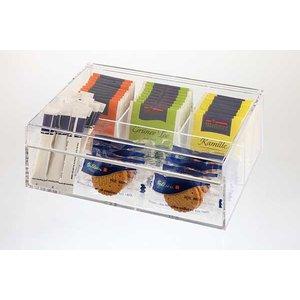 APS Pudełko Ekspozycyjne na Herbatę - Akrylowe | 220x170x90 mm