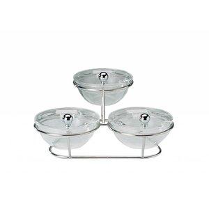 APS Etażera Bufetowa 500x500x180 mm | 3 Salaterki x 0,5L