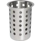 APS Koszyk na sztućce ze stali nierdzewnej | śr.97x(H)137mm