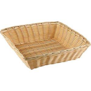 APS Kwadratowy Koszyk z Polirattanu | 240x240x60 mm