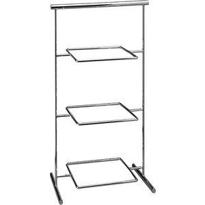 APS Stand ze Stali Chromowanej - na Trzy Półmiski | 330x210x440 mm
