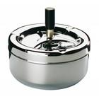 APS Aschenbecher mit Knopf - Chrome | Ø130x105 mm