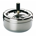 APS Ashtray with button - Chrome | Ø130x105 mm