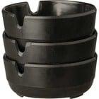 APS Asbak Melamine - Black | Ø78x30 mm | Set van 3 stuks.