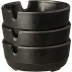 APS Melamine Asbak - Black | Ø78x30 mm | Set van 3 stuks.