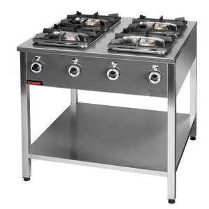 Kromet 4-ring gas cooker | 2x4,5kW + 2x7,5kW
