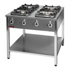 Kromet 4-ring gas cooker | 1x4,5kW + 1x7,5kW + 2x9,0kW