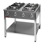 Kromet 4-ring gas cooker | 1x4,5kW + 1x7,5kW + 2x9,0kW