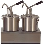 Saro Dispenser for sauces | stainless steel | 2 x 4.5 L