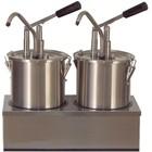 Saro Dispenser voor sauzen   roestvrij staal   2 x 4,5 L
