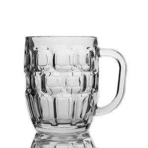 TOM-GAST Pint of beer dimple Stein | 570 ml | set of 24 pieces