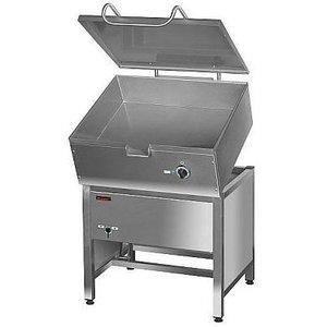 Tilting pan, smooth with an electric tilting pan   50 to 275 ° C   64L