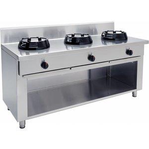 Saro Gas cooker WOK   3 burners   3 x 14 kW   Ø300-380mm