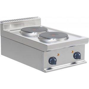 Saro Kuchnia elektryczna | 2 płyty | 2 x 2,6 kW | 400x700x275mm