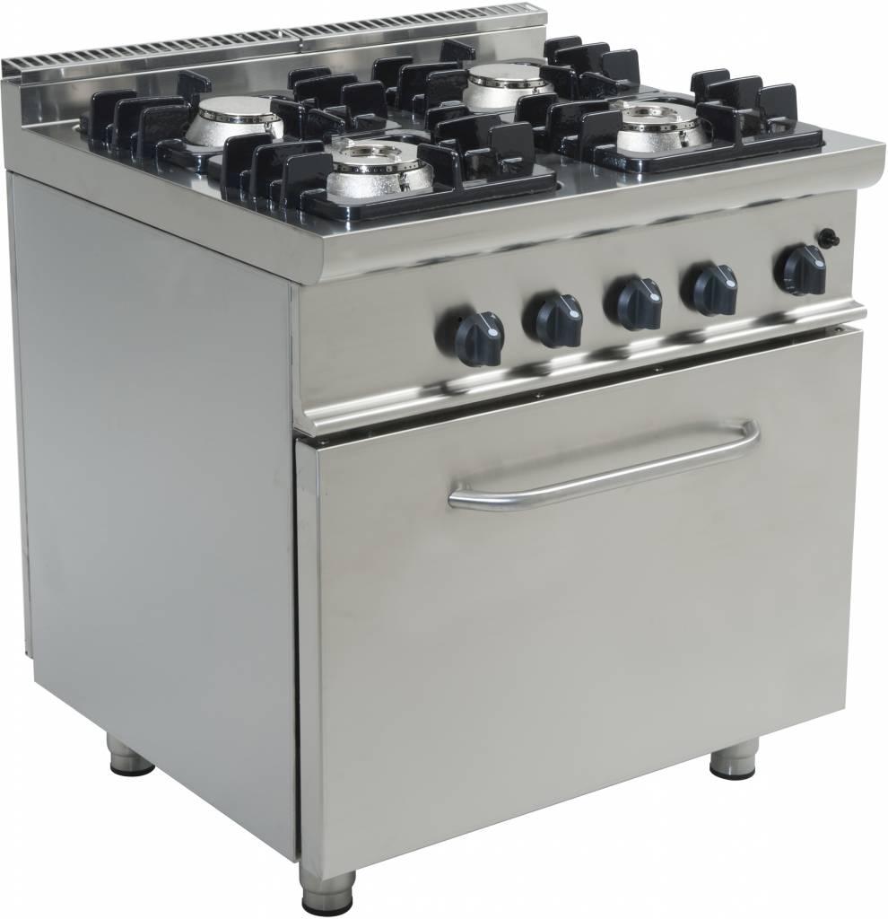 kuchnia gazowa z piekarnikiem gazowym 4palnikowa xxlgastro