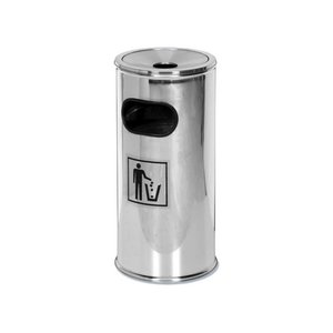 Saro Kosz na śmieci/popielnica - stal nierdzewna - wys. 62 cm