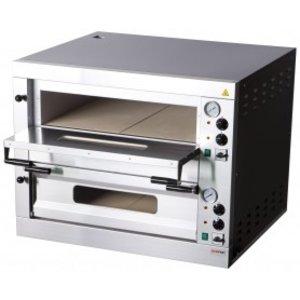 RedFox Pizza oven | 2 niveau | 980x920x760mm | 2 x Ø35 cm