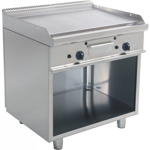 Saro Gas grill on the basis | Smooth | 790x530mm | 12 kW