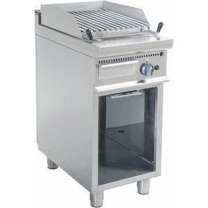 Saro Lava gas grill aan de hand | 400x700x850mm | 8 kW