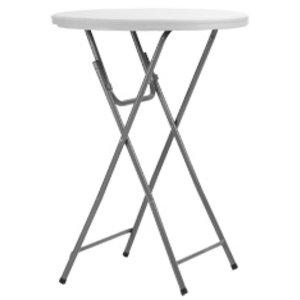 ZOWN Stół koktajlowy składany | 170kg max. | śr. 813x(H)110mm