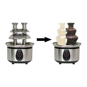 Optimal Schokoladen-Brunnen gibt zwei Aromen von Schokolade   2x800g