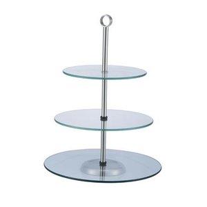 Verlo Patera 3 stopniowa szklana | wys. 40cm
