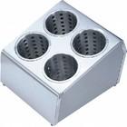 TOM-GAST Pojemnik na sztućce | cztery otwory | 205x255x280 mm