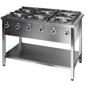 Kromet 6 BURNERS GAS KITCHEN | 3x4,5kW + 3x7,5kW