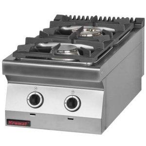 Kromet Kitchen 2-burner gas stove | 12 kW
