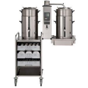 BRAVILOR BONAMAT Coffee-Überlauf für die Montage an der Wand | der Kocher | 1 Brühsystem | 2 Thermoskanne 10L