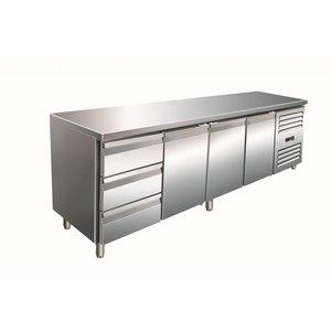 Saro Stół chłodniczy 4-drzwiowy | 3 szuflady |  +2° / +8° C