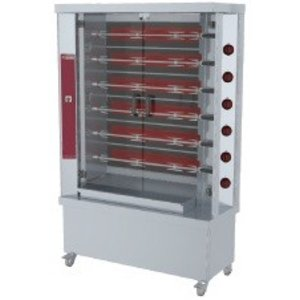 Diamond Opiekacz elektryczny na 30 kurczaków | 6 x 5 | wersja na kółkach