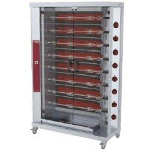 Diamond Opiekacz elektryczny na 40 kurczaków | 8 x 5 | wersja na kółkach